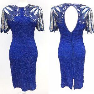 Laurence Kozar NY Sequins 100% Silk Dress